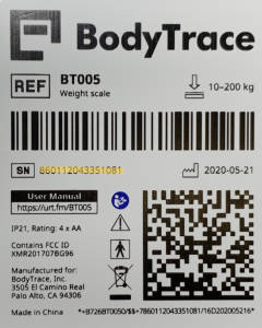 Placement of BodyTrace Device Id